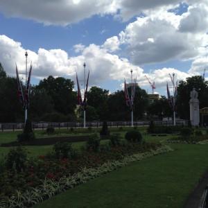 Garten vor dem Buckingham Palace