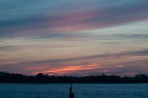 Sonnenuntergang im Hamford Water