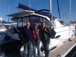 Frank,Birgit und Katja vor der CAYLUNA