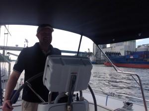 Helmut als Skipper
