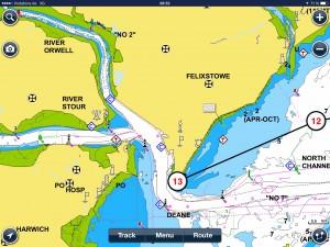 ....dann nur noch den Orwell River hoch bis zur Marina Suffolk Harbour