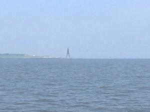 Die Kugelbake ist das Wahrzeichen von Cuxhaven