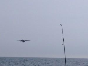 Besuch von der Küstenwache am Morgen